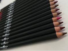 Italia Deluxe Ultra Fine Lip Liner set of 12 color Italia Lip Liner, Best Lip Liners, Lipstick Collection, Makeup Collection, Lip Pencil, Lip Tint, Matte Lips, Dark Skin, Lip Colors
