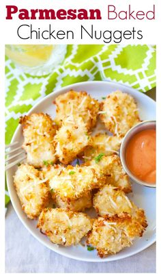 Parmesan Baked Chicken Nuggets – crispy chicken nuggets with real chicken &…