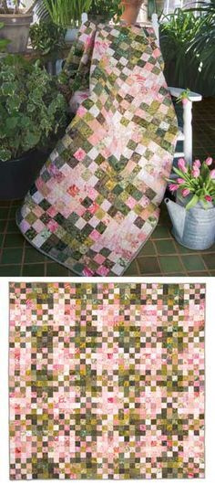 RHUBARB PIE QUILT KIT http://northwindsquilting.blogspot.com/2013/07/summer-quilting.html