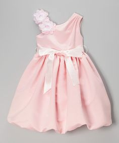 Another great find on #zulily! Pink Flower Asymmetrical Dress - Toddler & Girls by Cozy Bug #zulilyfinds