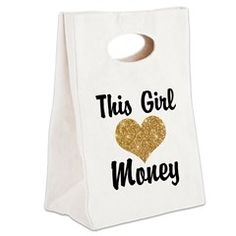 This Girl (loves) Canvas Lunch Tote