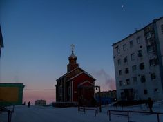 Tiksi is a small town and seaport in the north of Russia. It faces the Laptev Sea. A Polar station and an observatory are located nearby. Navigation is possible for 3 months. It is very cold here in winters and not hot in summer (8 degrees Celsius). Frosts can be here 12 months a year.