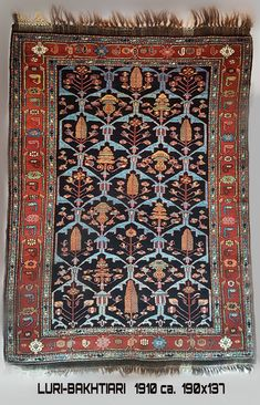 Bakhtiari Antique Persian Tribal Carpet - 1910 ca.   190x137