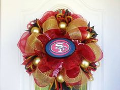 San Francisco 49ers Deco Mesh Wreath by Dudlebugs on Etsy