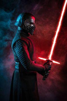 Star Wars Fan Art, Vader Star Wars, Star Wars Kylo Ren, Star Wars Boba Fett, Star Trek, Star Wars Halloween, Star Wars Pictures, Star Wars Images, Kylo Ren Kostüm