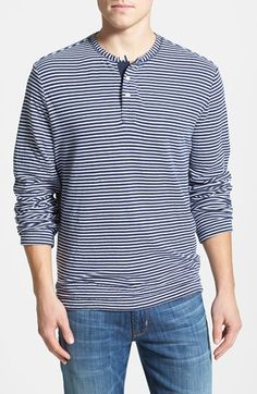 Surfside Supply Trim Fit Stripe Henley available at #Nordstrom