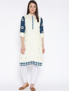 Buy Rangriti Women Off White Solid Straight Kurta - Kurtas for Women  f9a13b11b