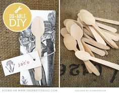 Name tags & wooden spoons | Photo: Sugarpenguin