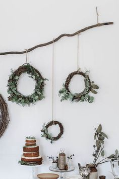 gingerbread sorghum cake + diy wreaths & muslin wrapping