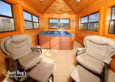 Swimmin With Bears -- Soak in your indoor hot tub at the top peak of this beautiful log home