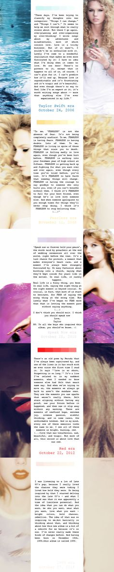 I always love the descriptions Taylor gives for each album. They are so magical.