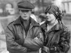 David Bowie at Marc Bolan's funeral.