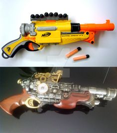 modification d'un fusil nerf pour en faire un fusil steampunk