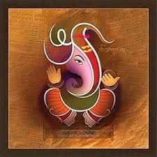 Lord Ganesh is at the heart of Indian Culture. Besides of religious feelings Ganesh's gracious image gives peace and it also has immense decorative value. Various artists have presented Ganesh in various forms through centuries. Lord Ganesh is the symbol Lord Ganesha Paintings, Ganesha Art, Krishna Painting, Krishna Art, Krishna Tattoo, Mural Painting, Fabric Painting, Ganesh Lord, Ganesh Images