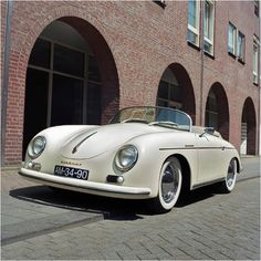 An absolute dream car...... literally a dream lol ---Porsche Vintage convertible car, Porsche 356
