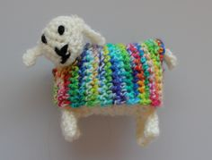 https://flic.kr/p/KfG8Nc | Yarndale sheep | Crochet sheep for the Community Project at Yarndale 2016  Made by me.  Pattern by Attic24. Rainbow yarn by Cuddlebums