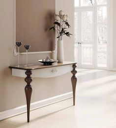 Recibidores / Furniture hall www. Console Furniture, Home Decor Furniture, Furniture Makeover, Furniture Design, Home Decor Kitchen, Diy Home Decor, Indian Living Rooms, Modern Console Tables, Wall Shelves Design