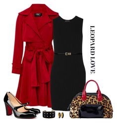 """""""Paule Ka Leopard Bag & Trench Coat Look"""" by romaboots-1 ❤ liked on Polyvore featuring Paule Ka, James Perse, Yves Saint Laurent, Tod's and Brooks Brothers"""