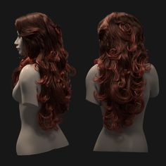 Xgen grooming for my new character I am working on. Fantasy Character, Character Modeling, 3d Modeling, Character Art, Character Design Disney, Disney Hair, Hair Reference, Anatomy Reference, Female Head