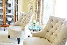 button-tufted-chairs www.atthepicketfence.com