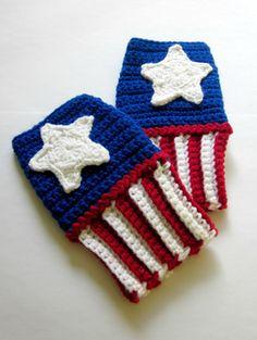 captain america fingerless gloves