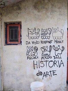 #cats #art #historyofart #artisticcats #catsonthewall