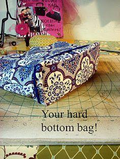 Hard bottom for your bags, Pellon #72 fusible interfacing