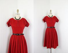 1950s Dress   Vintage 50s Red Dress  Sex Kitten by jumblelaya, $88.00