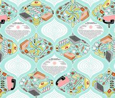 Zeppo's No Nuts One Bang Banana Bread fabric by thirdhalfstudios on Spoonflower - custom fabric