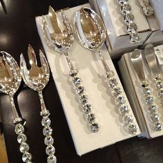 Lewis loves our Miranda serving sets! Fab hostess gifts at Z Gallerie. I want 2 sets. Bling, Hostess Gifts, Home Accessories, Kitchen Decor, Room Decor, House Design, Luxury, Interior, Cutlery
