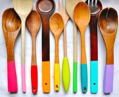 diy dipped kitchen utensils - todays project