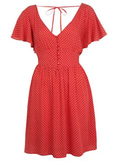Red Pin Spot Dress - View All - New In Vintage Floral 81412c067a55