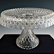 Cambridge Glass cake stand salver Virginian c. 1940s