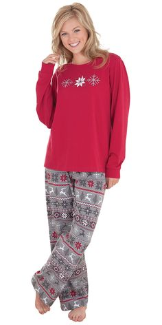 large nordic pjs for women - Womens Christmas Nightgowns