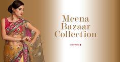 #MeenaBazaar Collection @ http://WeddingShop.BigIndianWedding.com/ Desi #Indian_Wedding eStore