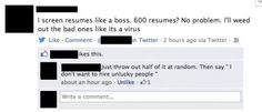 How to screen resumes