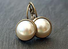 Vintage Perlen Ohrhänger von JanoschDesigns auf DaWanda.com