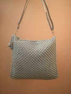 EmmHouse: Grey bubble purse with beaded charm