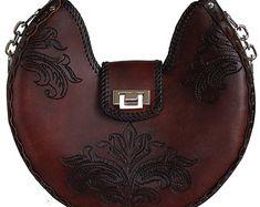 Tooled Leather Handbag - Cooper