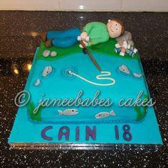 Drunken fisherman cake for 18th birthday boy (janeebabes cakes)