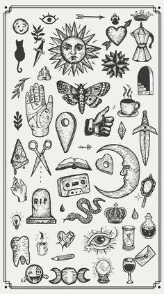 Kritzelei Tattoo, Doodle Tattoo, Poke Tattoo, Tattoo Quotes, Hand Poked Tattoo, Card Tattoo, Mini Tattoos, Leg Tattoos, Body Art Tattoos