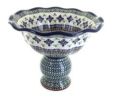Polish Pottery Mosaic Flower Pedestal Fruit Bowl >>> Details can be found by clicking on the image.(This is an Amazon affiliate link and I receive a commission for the sales)
