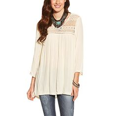 Ariat Womens Georgia Top SML R Papyrus -- Details can be found by clicking on the image.