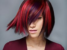 Red and violet. A beautiful and bold combination