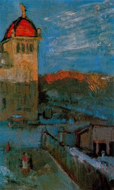 Le Palais d'Arts, Barcelona by Pablo Picasso, 1903 (Blue Period).