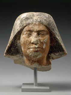 Head of a statue of an older man. Old Kingdom, 4th-5th Dynasty, ca. 2550-2460 B.C.
