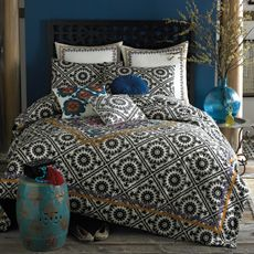 The awesome bedding we registered for! Anthology™ Olsen Comforter Set, Cotton - Bed Bath & Beyond Twin Comforter Sets, Bedding Sets, King Comforter, White Bedding, Deep Purple, Purple Gold, Euro Pillow Shams, Teal Walls, Home Bedroom