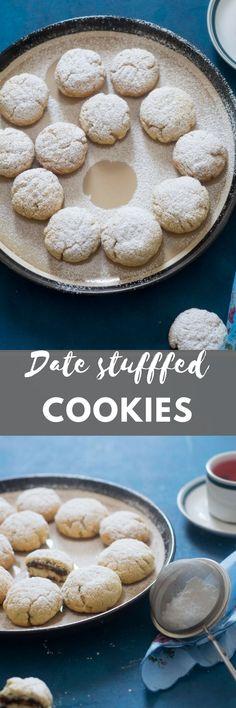 Date stuffed semolina cookies.
