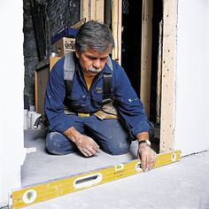 How to Install a Prehung Door - This Old House Prehung Interior Doors, Prehung Doors, Carpentry Skills, Phillips Screwdriver, Drill Driver, Old Houses, Two By Two, Wall, Drill