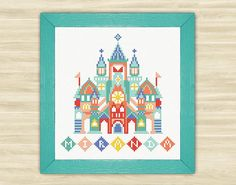 Buy 2 get 1 free  Castle Personalized Cross Stitch Pattern PDF